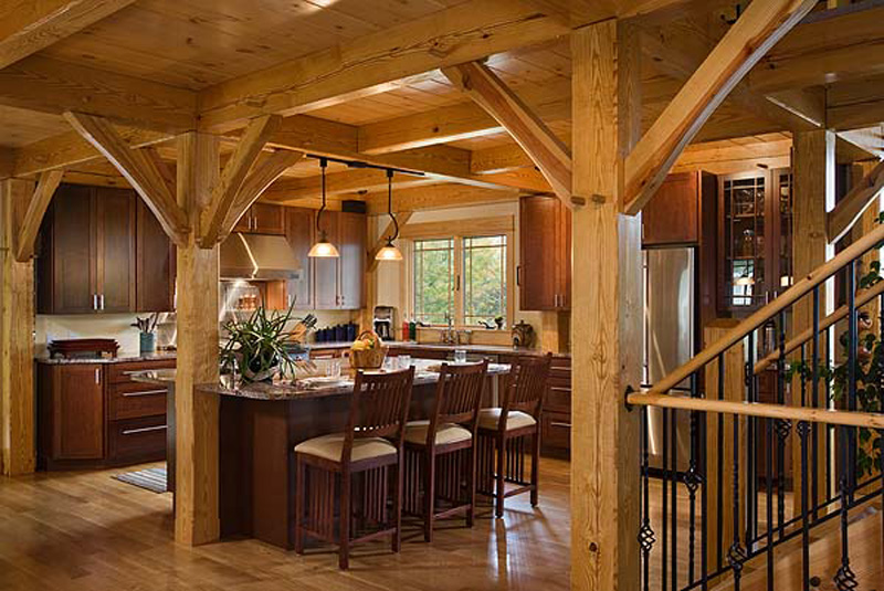 Woodhouse Post And Beam Kitchens Woodhouse The Timber Frame Company
