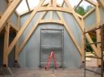 Design Studio interior truss detail.