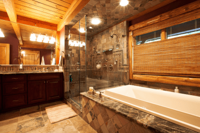 Chapin Timber Frame Master Bathroom