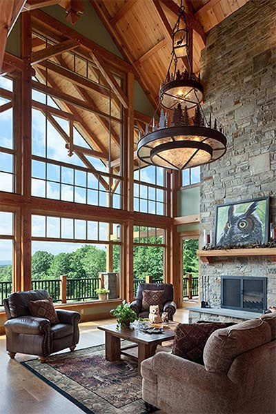 5 Timber Frame Great Rooms You'll Fall in Love With