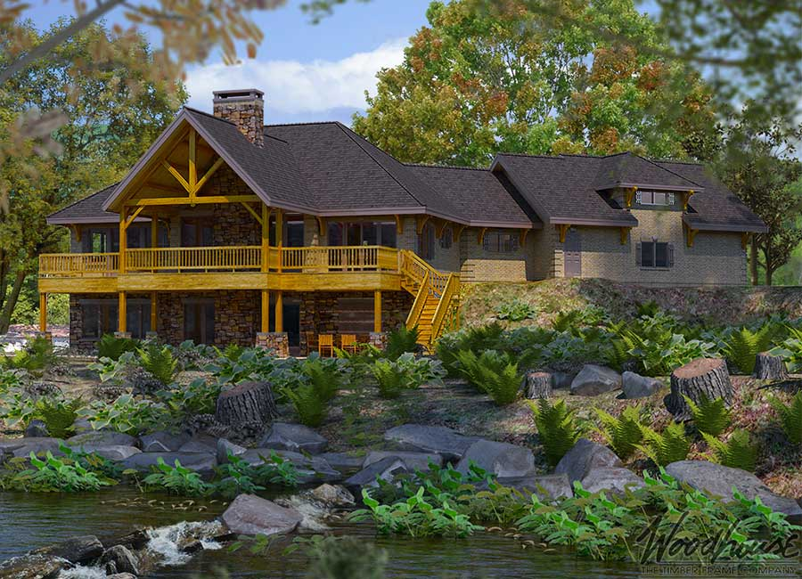 The Adirondack Retreat: The Tellico - Top Timber Frame Cabin Designs