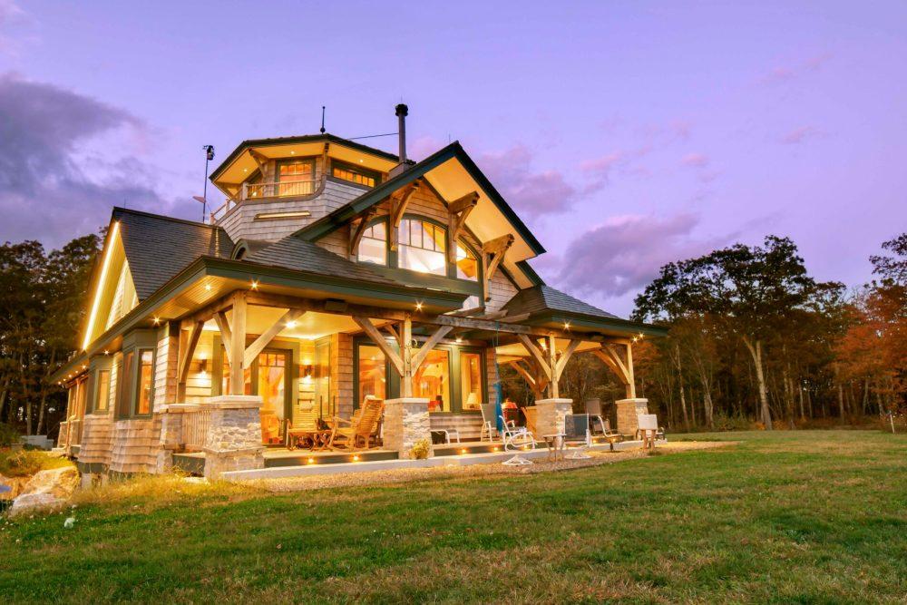 Timber Frame Home in Berkshires