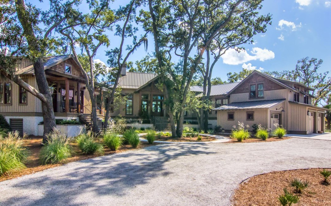 Relaxing Custom White Oak Timber Frame Low Country Home in Beaufort, SC