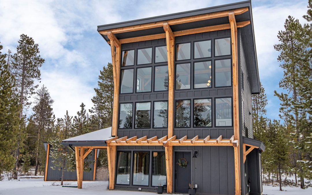 Modified RockyView Modern Timber Frame Mountain Cabin in Bend, OR