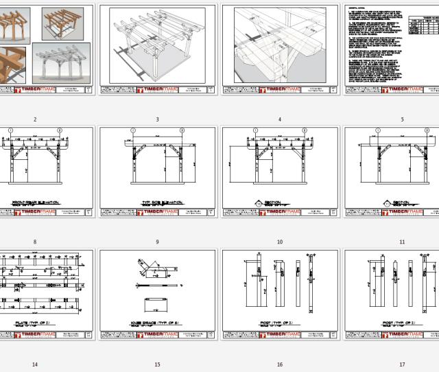 X Timber Frame Pergola