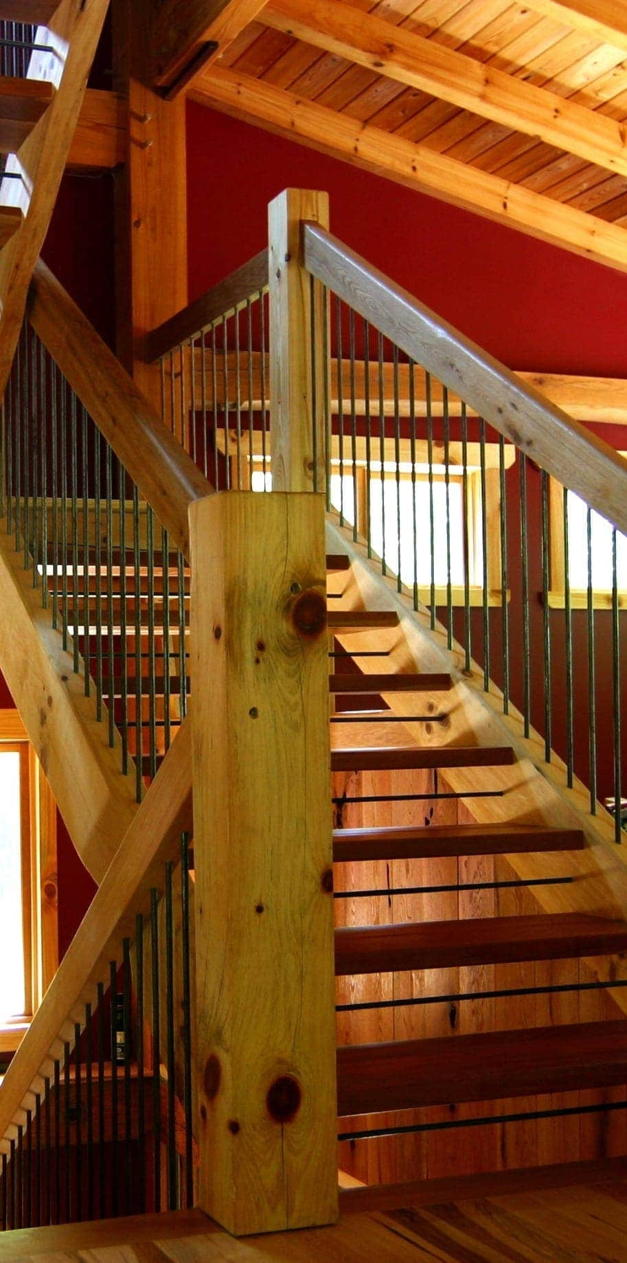 Types Of Timber Frame Stair Systems Timber Frame Hq   Tread Riser Staircase Design   Section   Concrete   Rcc   Marking   Metal
