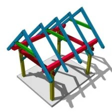 Timber Frame Shed Roof Plan Timber Frame Hq