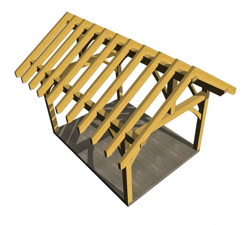 12x16 Timber Frame Plan Timber Frame HQ