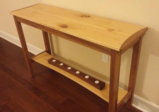 Maple and Walnut Sofa Table