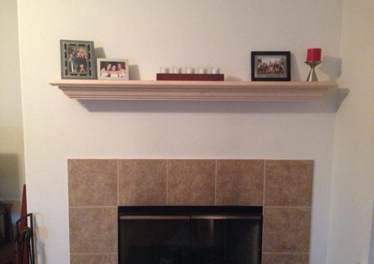 Pine Fireplace Mantle
