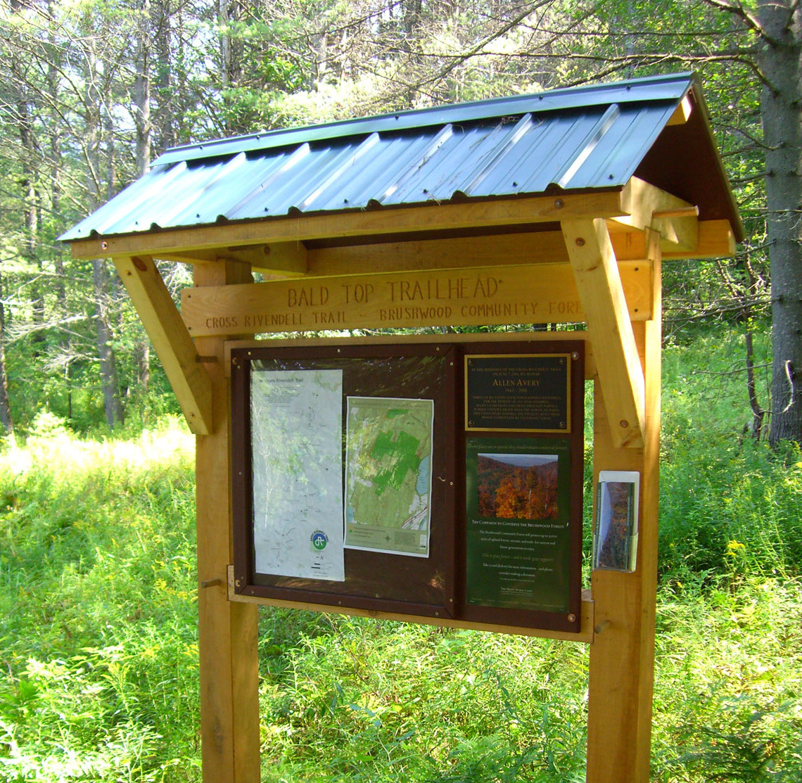 Classic Trailhead Kiosk A Timber Frame Sign Board