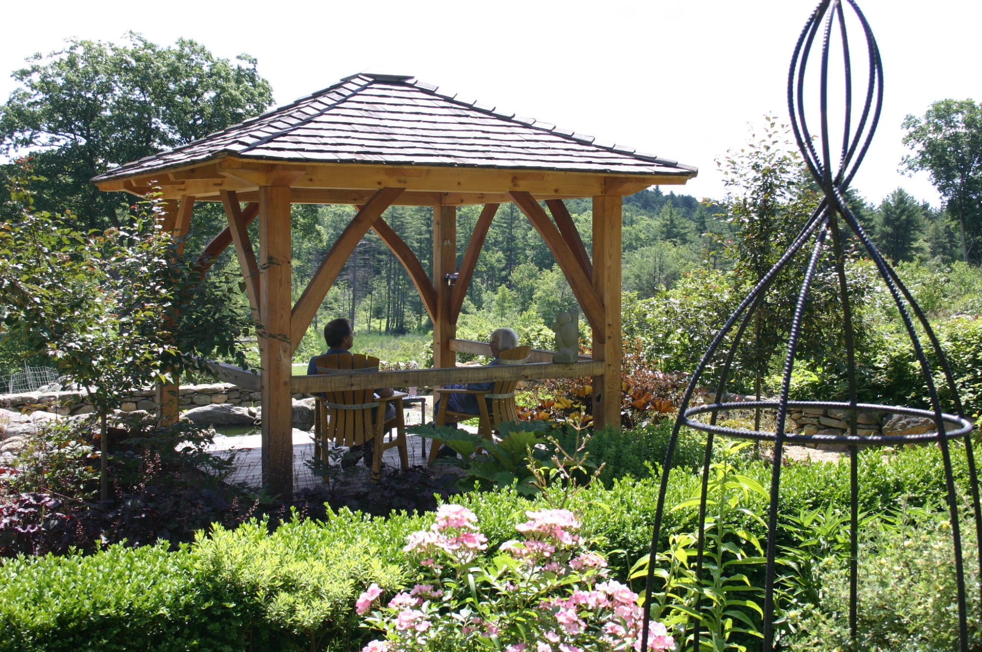 Japanese Influenced Garden Gazebo In Massachusetts