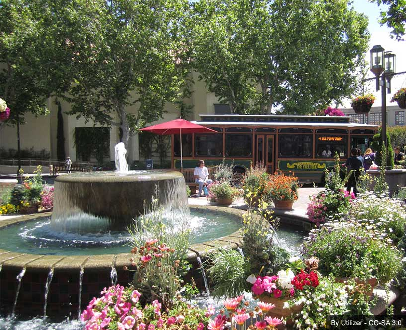 Broadway Plaza Shopping Center in Walnut Creek, California
