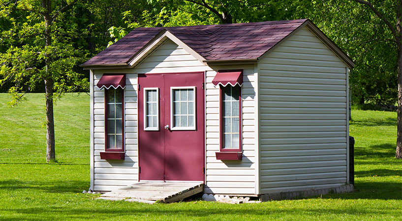 an old shed, newly rennovated