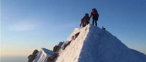 Mt Hood climbers at the summit