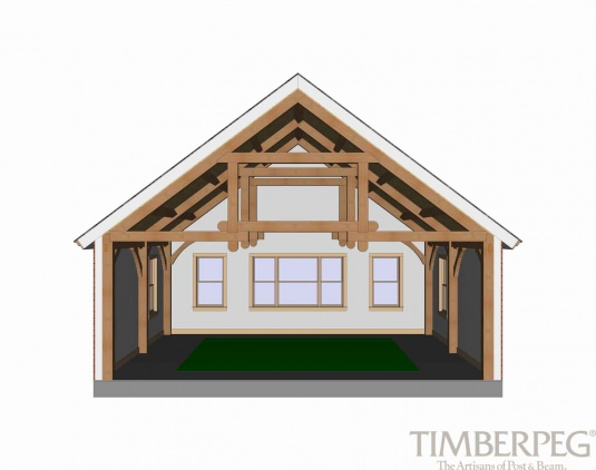 Queen Post Trusses Modified Timberpeg Post And Beam