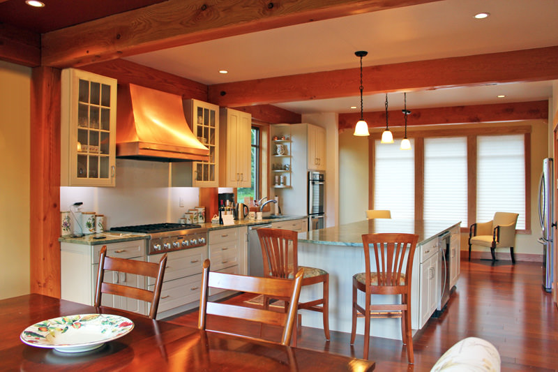 Kitchen Layout Ideas For Post And Beam Homes Timberpeg