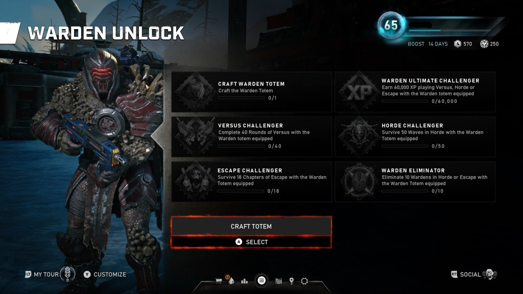 Gears 5 warden totem challenges