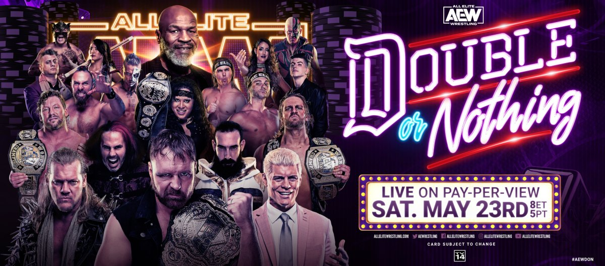 aew double or nothing 2020 poster