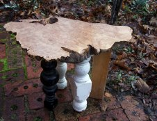 Maple Burl Foot Stool