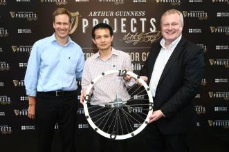 Clock at home too small to tell the time? Tell that to the lucky winner who won the bike wheel clock. A stylish and functional ornament every household must have.