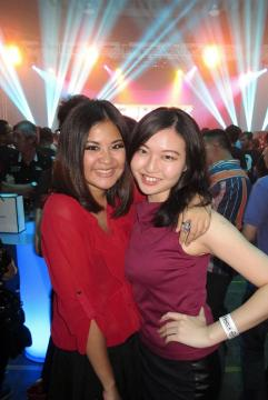 Wan Ting with Mynn Lee from Red FM