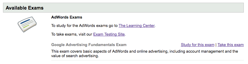 Google Advertising Fundamentals Exam