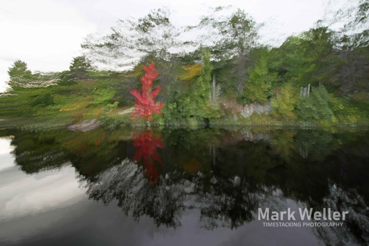 Timestack photography of reflection in water