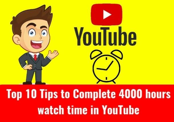 Get 4000 hours watch time in YouTube easily