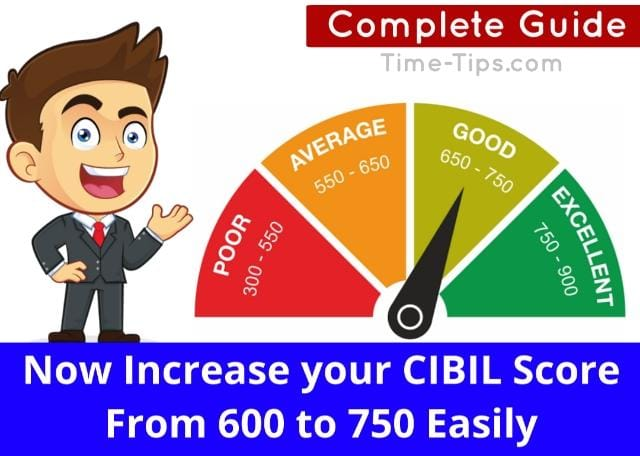How to Increase Cibil Score From 600 to 750