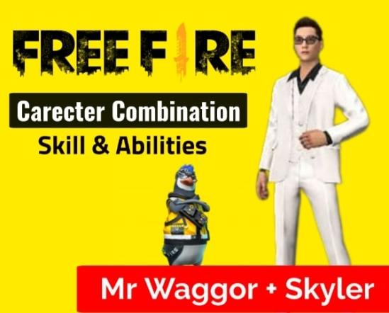 Waggor + Skyler Carecter combination in Free Fire