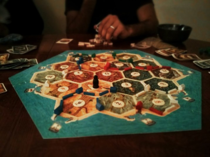 Day 24 Friday night + pizza + apple pie + Settlers of Catan + Ticket to Ride = awesome. Simple maths.