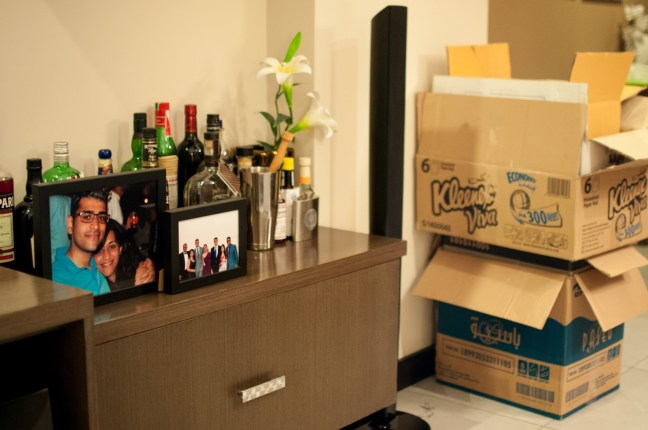 Day 216 Got the important bits out of the boxes and in a, more or less, suitable place - THE BOOZE.