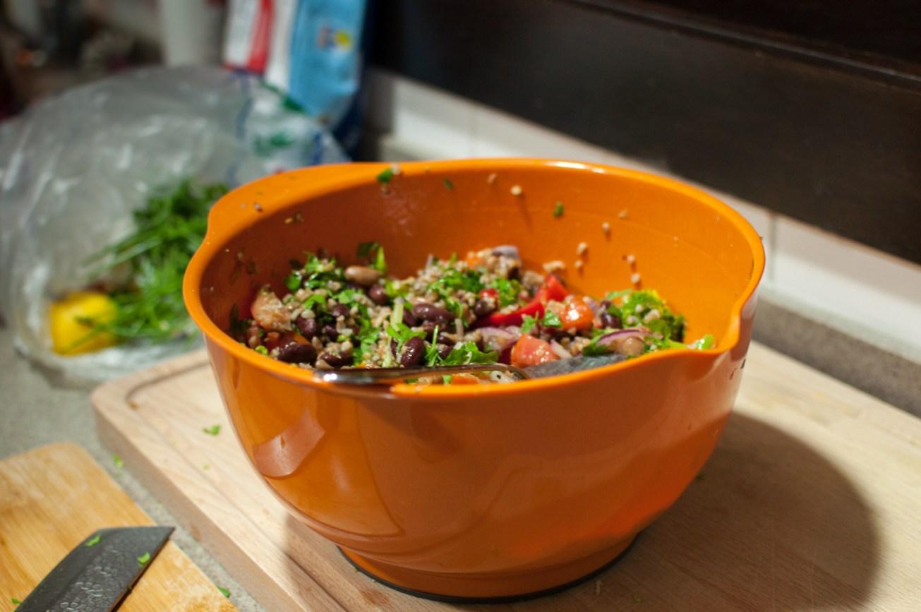 Mum's bean salad