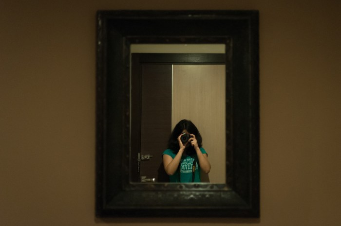 I think I fallback on self portraits when I struggle to take a daily photo. And according to the last few of these I've done - I'm always wearing the same t-shirt.