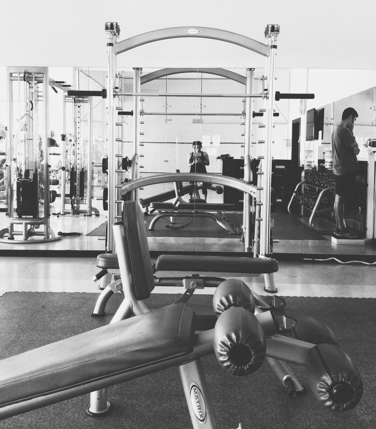 Kicking it at the gym