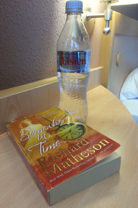 Reading Somewhere in Time in my hotel room