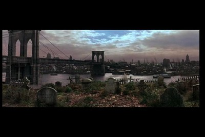 Brooklyn Bridge in The Gangs of New York movie