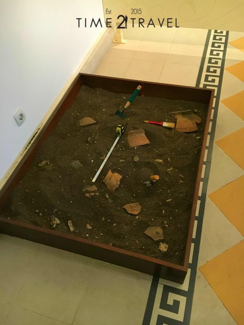 Археологически инструменти в музея