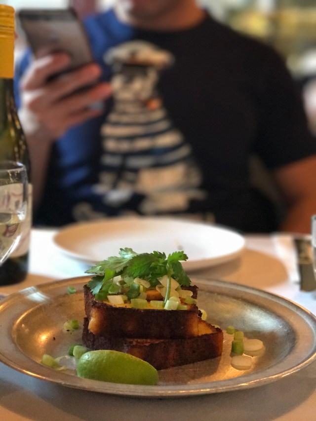caravan restaurant, starter, jalapeno corn bread