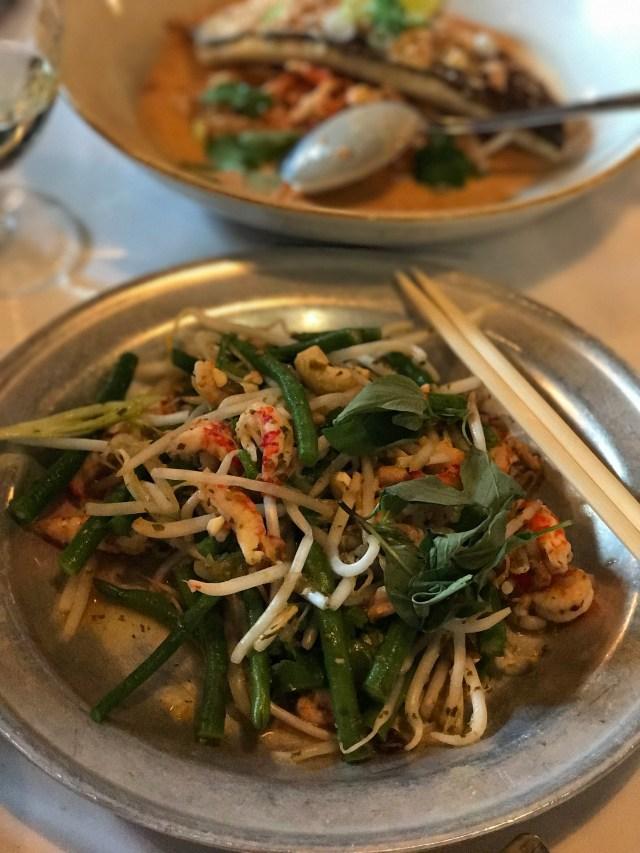 caravan restaurant, crayfish salad, thai basil