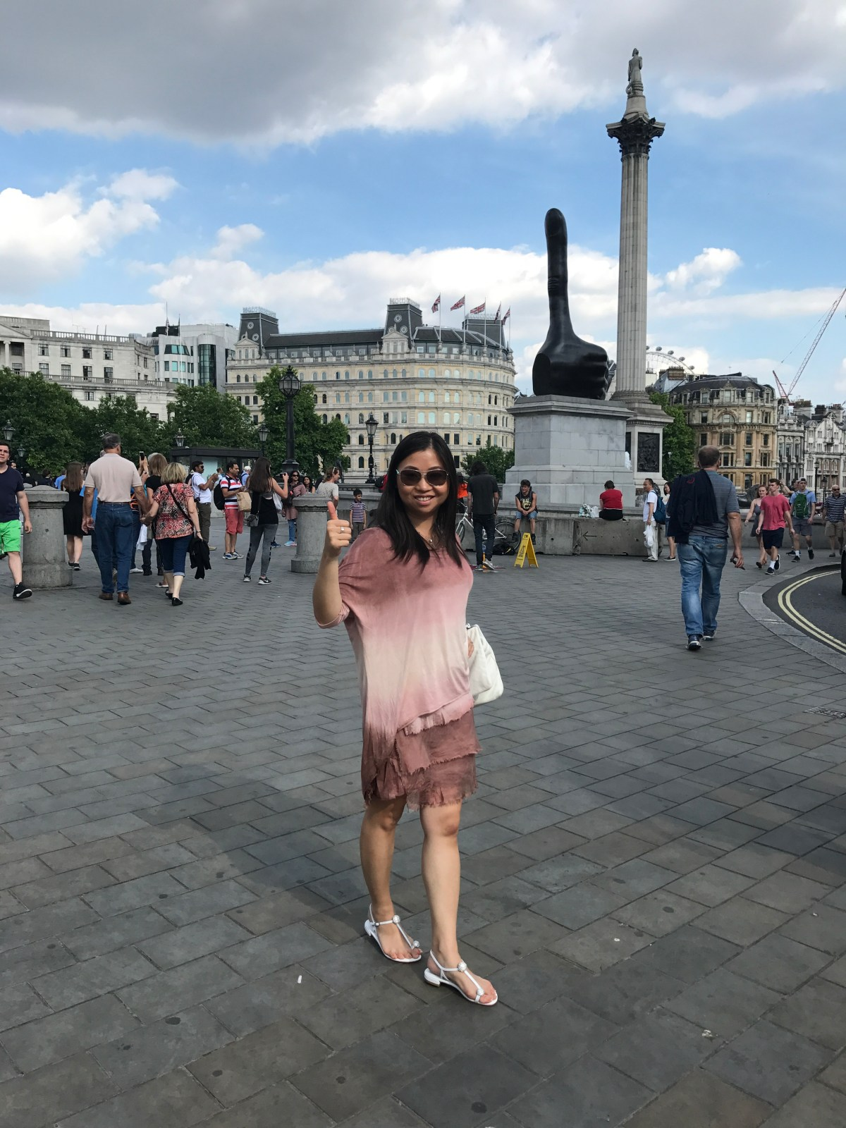 Trafalgar Square, London, day trip