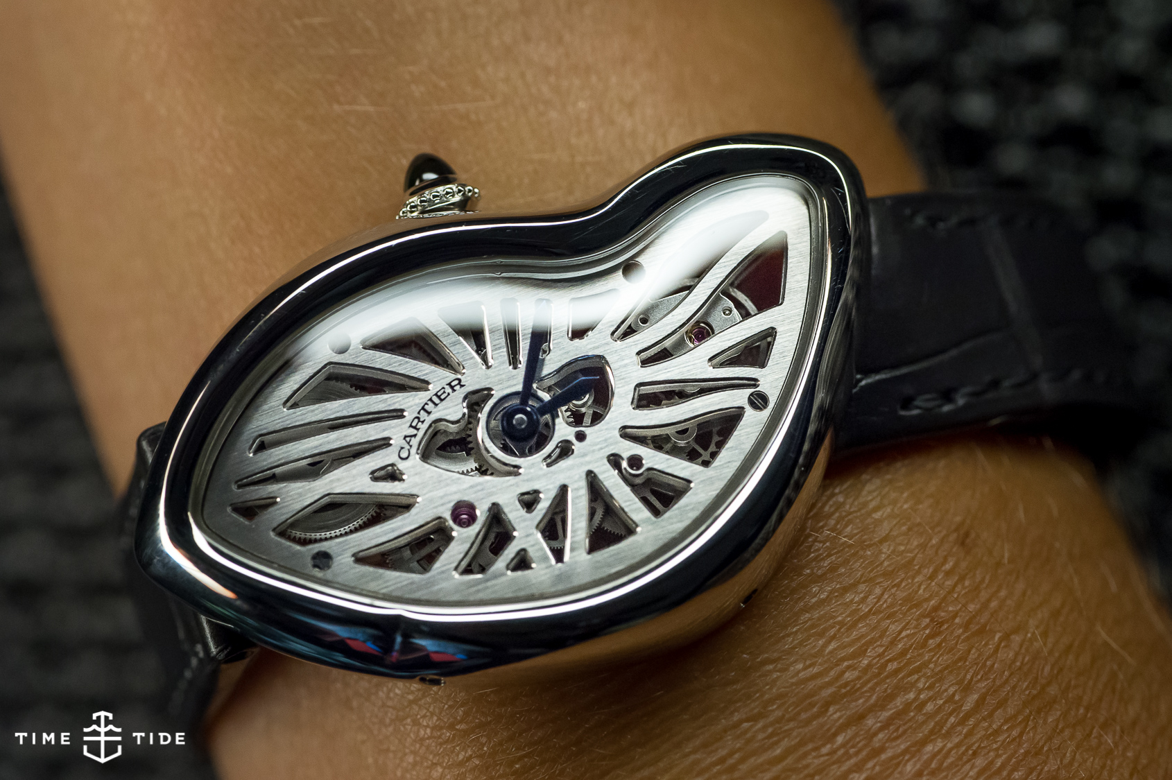 HANDS ON The Cartier Crash Skeleton Time And Tide Watches