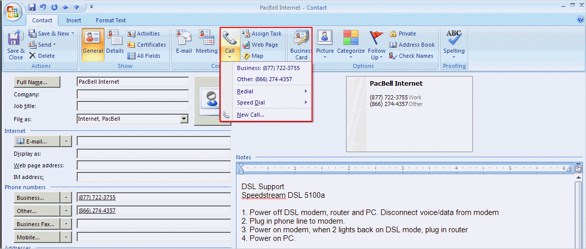 Use Outlook To Document Phone Calls