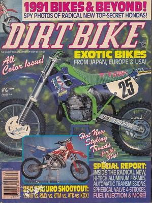 DIRT BIKE Magazine July 1990 - Time Capsule Magazines