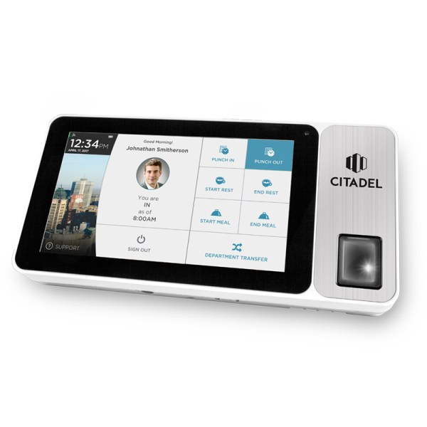 biometric wifi time clock, fingerprint employee time clock, cloud based