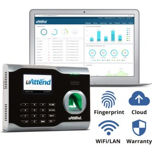 uAttend fingerprint time clock