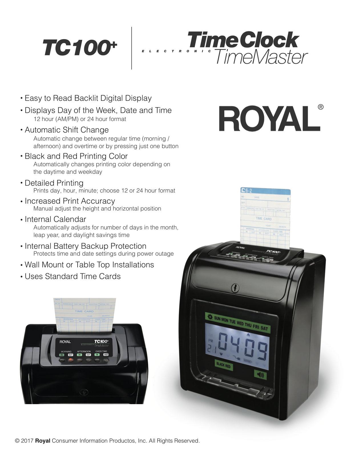 Royal TC100 Plkus