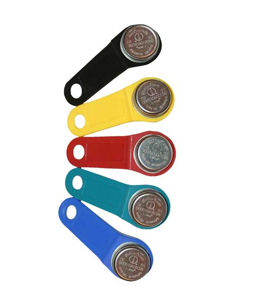 ID/Supervisor iButton key fobs, 5 pack