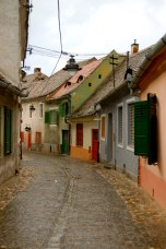 Saxon Houses in Sibiu, Romania